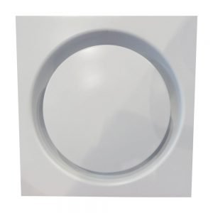 Ceiling Square Framed Round Disc Air Diffuser