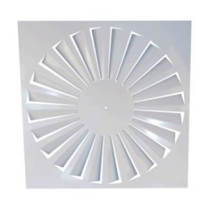 Ceiling Square Air Swirl Diffuser with Fixed Straight Blades (FD)