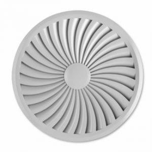 Ceiling Circular Swirl Air Diffuser with fixed curve blades (TDF-SilentAIR)