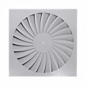 Ceiling Square Swirl Air Diffuser with Fixed Curve Blades (TDF-SilentAIR)