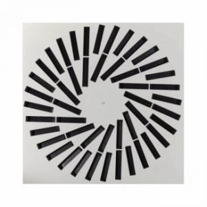Ceiling Swirl Air Diffuser with individually adjustable blades (VDW)