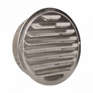 Stainless Steel Flat Louvered Vent Cap