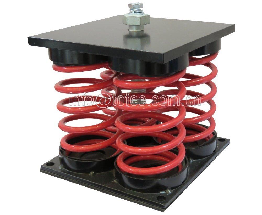 BZE Free standing spring mount vibration isolator (25-100mm deflection)