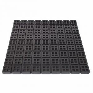 Waffle Rubber Pad Vibration Isolator