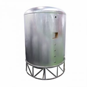 Pressurized S.S. Vertical Cylindrical Insulated Tank