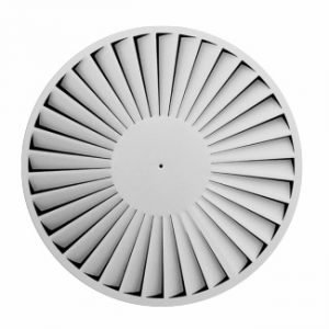 Ceiling Circular Air Swirl Diffuser with fixed straight blades
