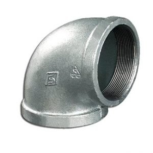 Galvanized Malleable Iron 90° Elbow