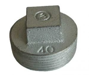Galvanized Malleable Iron Square Head Plug
