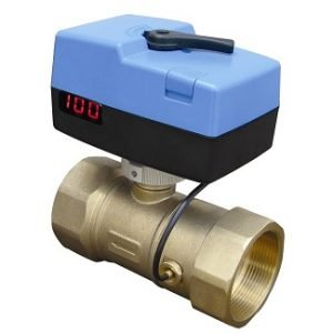 Brass Threaded Electronic Modulating Pressure Independent Control Valve