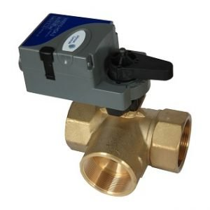 3 Way Motorized Modulating Threaded Brass Ball Valve (Johnson Control)