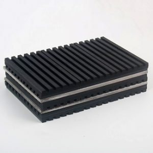 Crossed Double Ribbed Vibration Isolation Rubber Pad