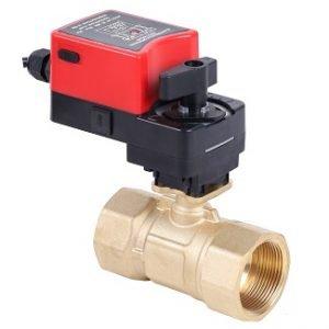 Two-way modulating motorized ball valve